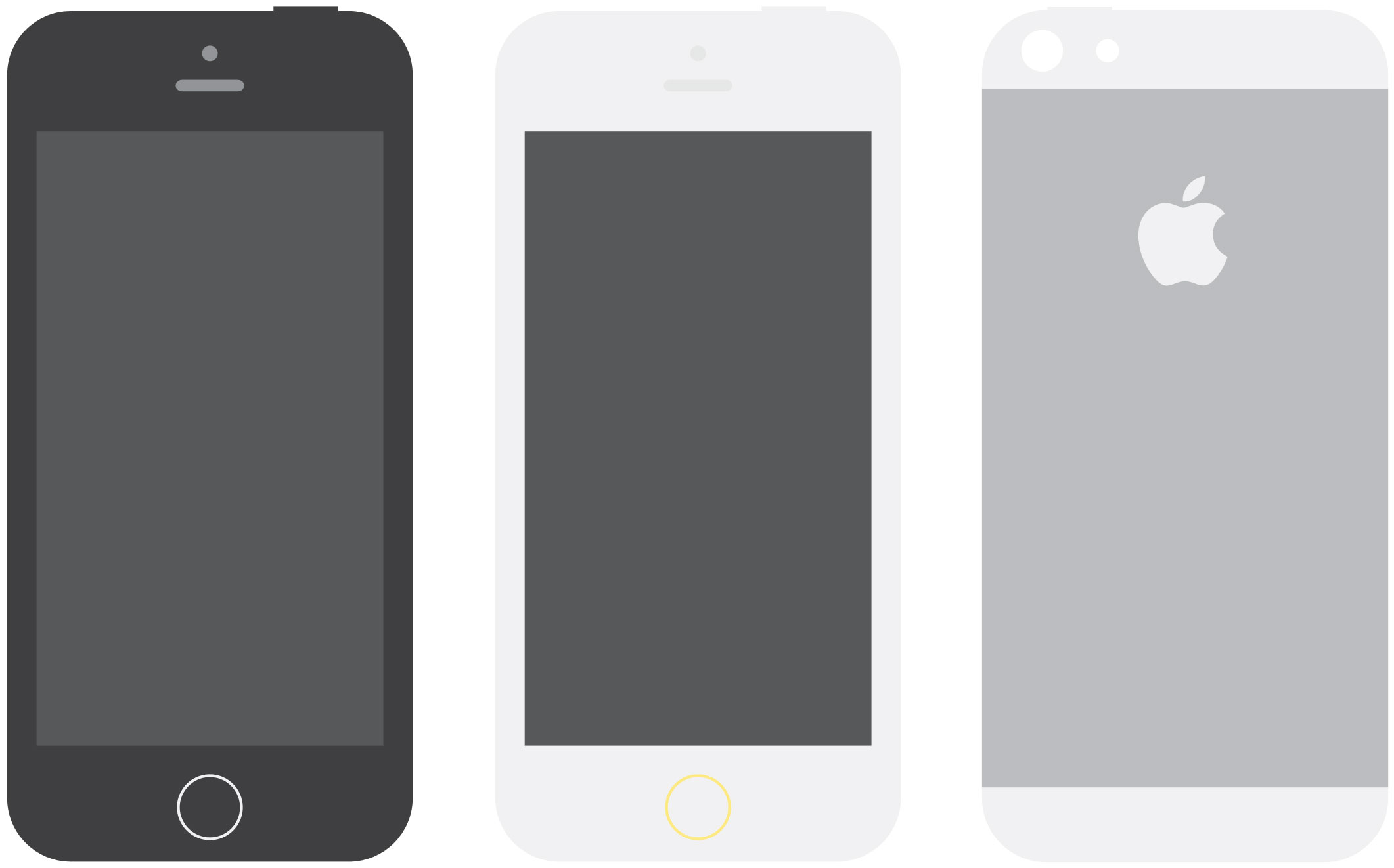 Apple iPhone 5S Flat Design Mockups - PSD Mockups
